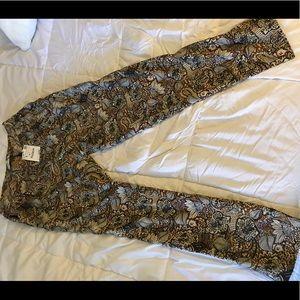 Floral/symmetric pants